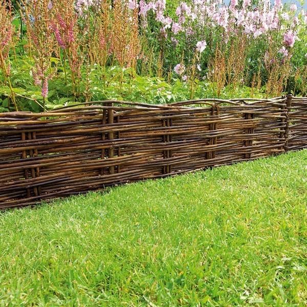 Bordure jardin en osier pas chère - Où acheter votre bordure ...